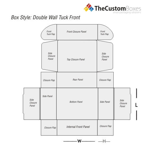 double-wall-tuck-front-flat-view-template