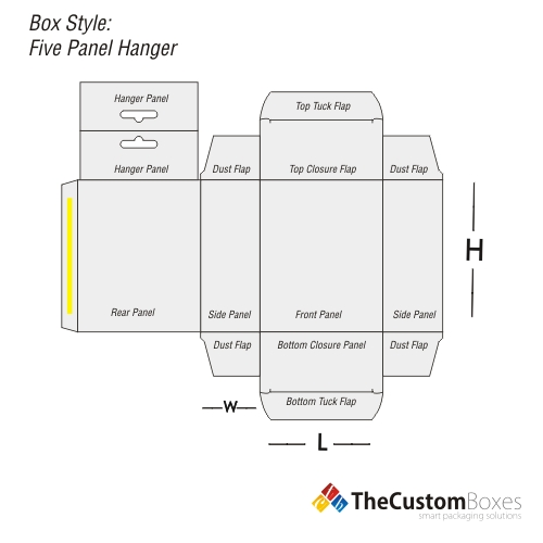 five-panel-hanger-flat-view-template