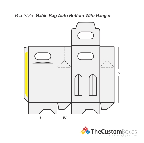 Gable Bag Bottom Hanger | Custom Bottom Hanger Gable Packaging