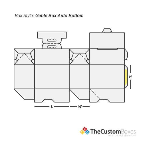 Gable Box Auto Bottom | Custom Gable Auto Bottom Packaging
