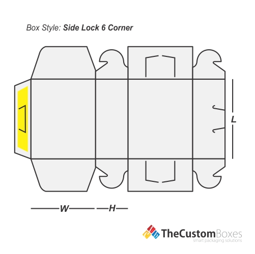 side-lock-six-corner-flat-view-template